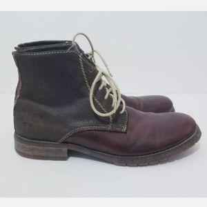 Bed Stü Protege Two Tone Leather Boots Size 8 EUC